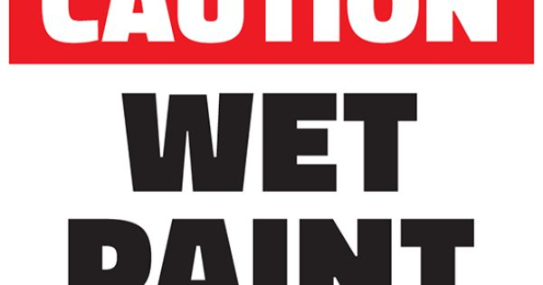 free caution wet paint printable sign template