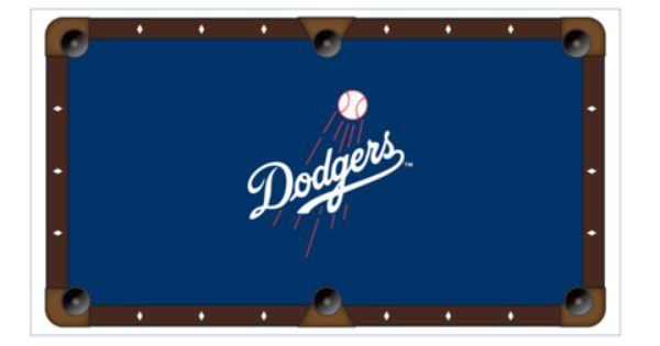 Los Angeles Dodgers Deluxe 8 Pool Table Felt Cloth Pool Table Felt Dodgers Pool Table