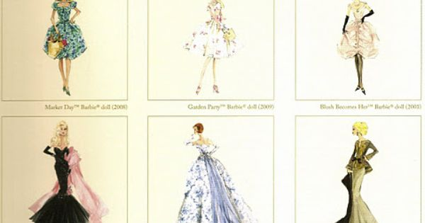 Vintage Barbie Fashion Prints I really wished that I have kept all