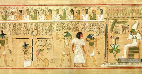 The Weighing Of The Heart Ancient Egyptian Ceremony Ancient Egyptian Gods Book Of The Dead Ancient Egyptian