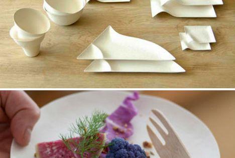Reinventing Disposable Elegant Japanese Paper Tableware Designs amp Ideas On Dornob Treat Yo