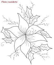 Resultado De Imagen Para Patron Flor Navidena Christmas Embroidery Patterns Felt Ornaments Patterns Dolphin Coloring Pages