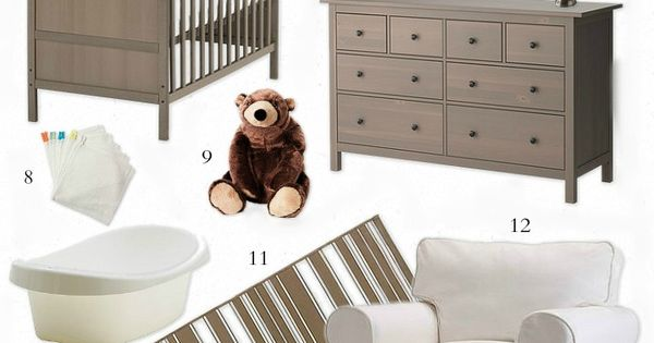 Easy Ikea Baby room gor Grandparents house-Neutral and Calming Nursery - All