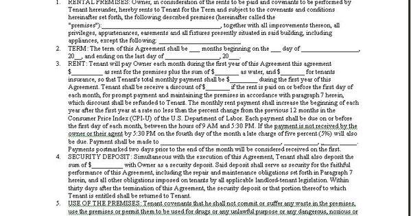 Printable Sample Room Rental Agreement Form Form