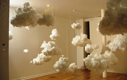 diy paper lantern clouds -Planning on putting LED lights inside to make