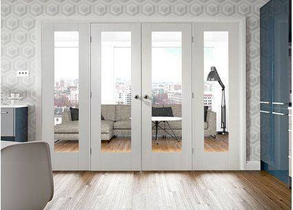 Easi frame white room divider door system internal room for Internal folding doors systems