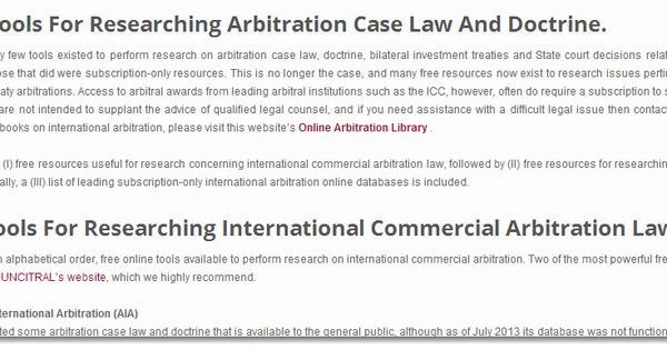 A Glimpse At The HttpInternationalArbitrationAttorneyCom