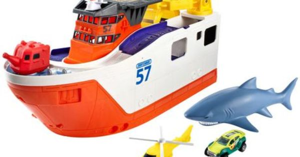 Shark Toys At Walmart : Matchbox mission marine rescue shark ship for sale at