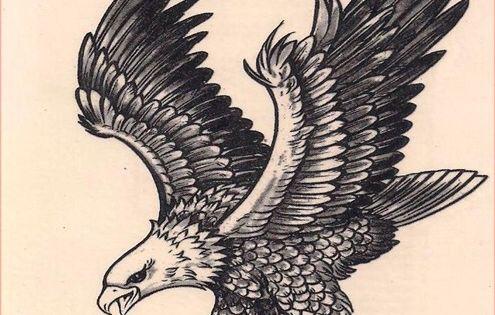 Vintage Eagle Tattoo 112