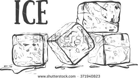Hand Drawn Sketch Ice Cube Eco Food Vector Illustration Ice Cube On The White Background Organic Illustration Ice Cube Drawing Cube Drawing Ice Drawing