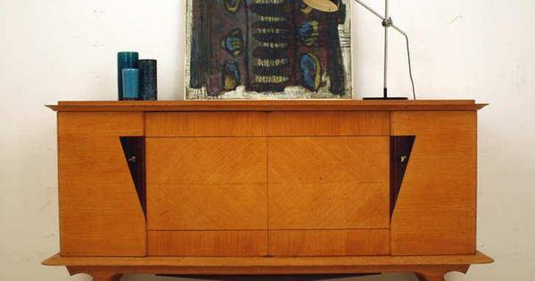 Decoratief vintage dressoir retro frans for Interieur 60er jaren