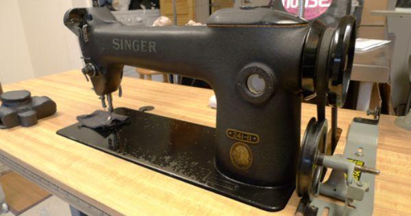 Vintage Industrial Singer Sewing Machine Model 241 11