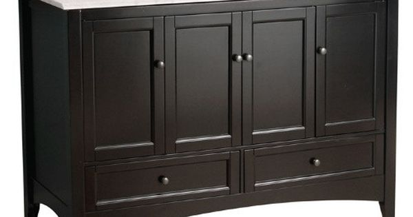 Foremost berkshire 48 in single bathroom vanity espresso bathroom vanities at hayneedle - Foremost berkshire espresso bathroom wall cabinet ...