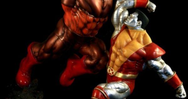 Red Hulk Vs Trion Juggernaut: #colossus Vs #juggernaut 1:5 Scale Custom Resin Statue