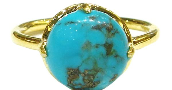 Gemma Stackable Ring Turquoise By Suzanne Somersall. This is the perfect turquoise