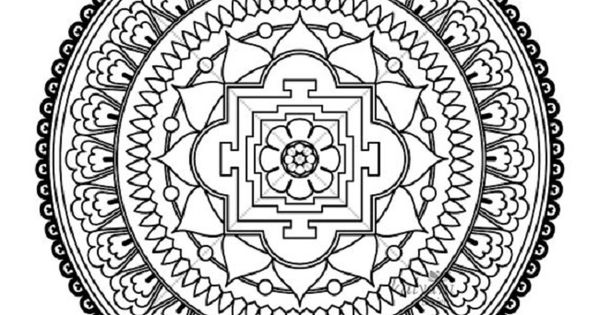 Rectangle Mandala Coloring Pages
