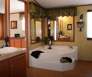 Master Bath Your Perfect Retreat Fleetwood Mobile Homes Worst Tub To Have Ledge Is Remodeling Mobile Homes Mobile Home Bathrooms Single Wide Mobile Homes