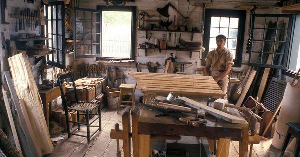 woodshop, Thunder Bay, Canada, Ontario, Inside a shop at ...