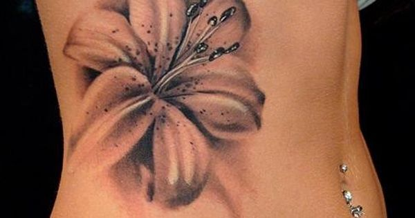 #3dtattoo 3d tattoo flower 3d flower tattoo
