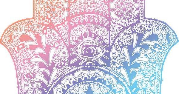 Hamsa Color Mano De Fatima Hamsa Pinterest