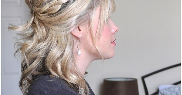 Half French Braid Half Up How to from The Small Things Blog.