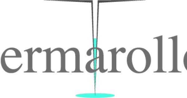 Logo Dermaroller Dermaroller Haut Konzept