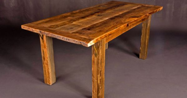Reclaimed barn wood dining room table 36 w x x 30 for Dining room table 36 x 48
