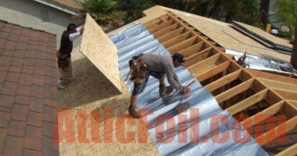 Radiant Barrier Draped Under Decking Install 3 Roof Installation Radiant Barrier Under Decks