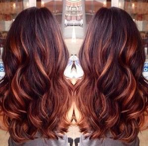 Dark Brown Hair With Caramel Highlights And Red Lowlights By Suzette Hair Styles Cool Hair Color Long Hair Styles