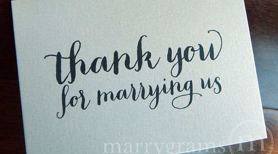 Wedding Card To Your Officiant Thank You For By Marrygrams 4 00 Big Day Pinterest