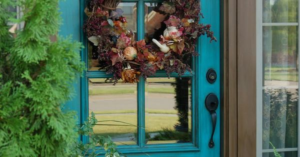 Turquoise Front Door color idea