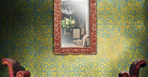 Moroccan wall stencils palace trellis moroccan stencil - Royal design muebles ...