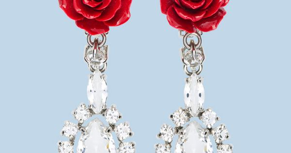 Prada Rose Earrings by Prada Earrings Prada Rose I want I want