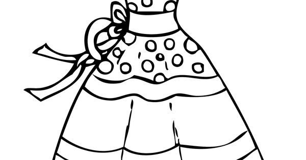 Dress summer polka dot coloring