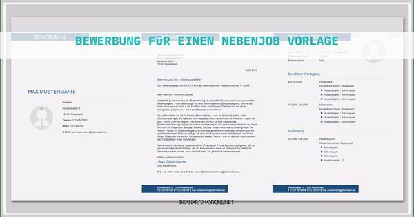 8 Erstaunlich Bewerbung Fur Einen Nebenjob Vorlage Ebendiese Konnen Einstellen In Ms Word In 2020 Bewerbung Gute Bewerbung Bewerbung Lebenslauf Vorlage