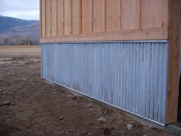 Now We Need To Combine The Rough Cedar Siding With Galvanized Metal Mobile Home Skirting Mobile Home Exteriors Metal Siding