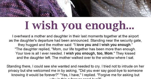 I wish you enough . .........: | Comfort, Salvation & Love ...