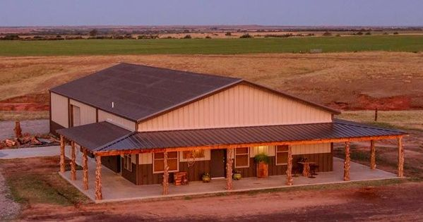 Image Result For Unique Metal Building Home W Wrap Around