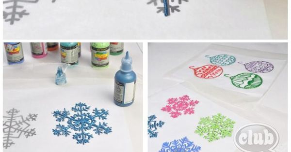 How to snowflake window clings. Decorate for Xmas party or just for the season