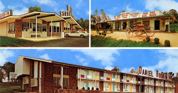 Here S A Postcard Which Shows Several Buildings At The Daniel Boone Railroad Village Including The Daniel Boone Inn And Db Cafeter House Styles Inn Sweet Home