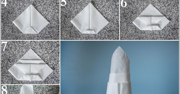 Tropical Lily Napkin Fold How To Fold A Napkin