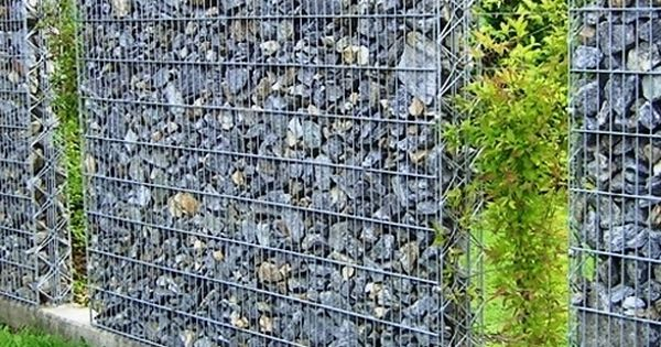 Custom gabion spaced planter walls in the phoenix area for Gabions phoenix