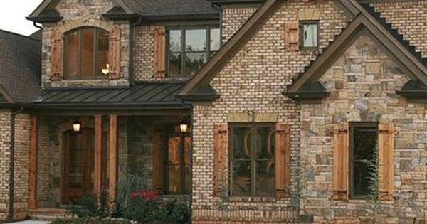 Elegant Brick Stone Combination Design Ideas, Pictures, Remodel, And Decor   Page 3
