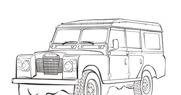 coloring land rover discovery coloring pages