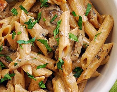 Creamy Chicken Marsala Pasta recipe adapted from America's Test Kitchen   2 large