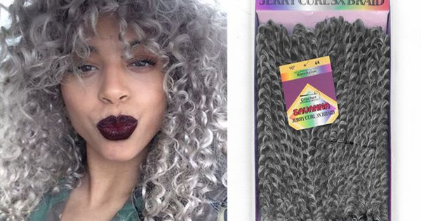 Crochet Hair Gray : inch Gray Synthetic Crochet Braids freetress Twists Braids 3Pcs/set ...