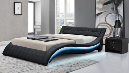 Aurora Collection Aurora Qn Bk 01 Queen Size Platform Led Bed With