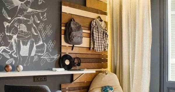 Jugendzimmer Holz Zimmergestaltung Ideen Industriell