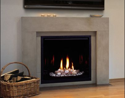 Make Your Gas Fireplace Look More Realistic By Adding Fire Wood Accents Modern Fireplaces