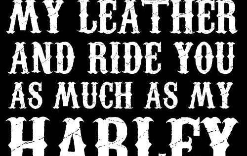 The most romantic thing to say to a Sons of Anarchy fan!